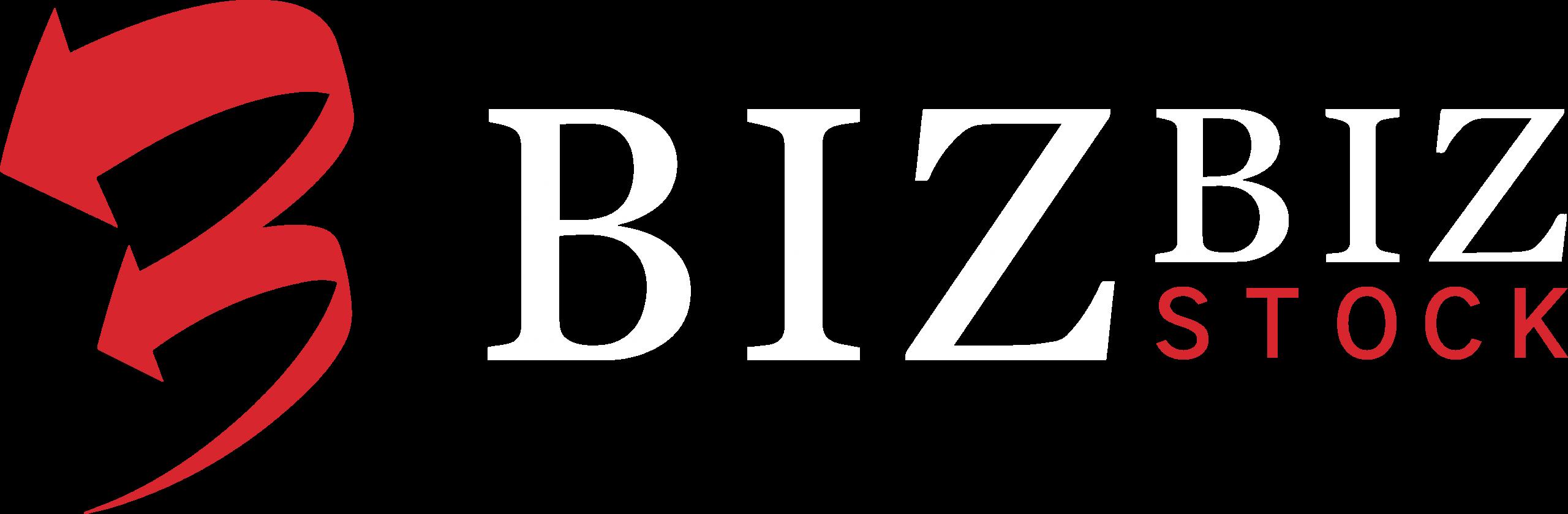 bizbiz stock logo white version